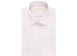 Michael Michael Kors  - Slim-Fit Salmon Check Dress Shirt