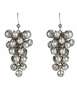 Blu Bijoux - Faux-Pearl Cluster Drop Earrings