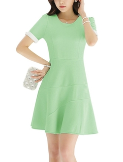 Uxcell - Texture Unlined Casual Dress