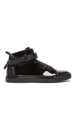 Buscemi - Leather High Top Sneakers