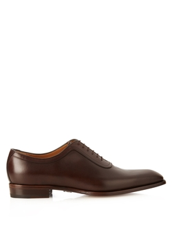 Gucci - Broadwick Lace-Up Leather Oxford Shoes