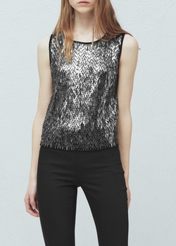 Mango - Sequin Embroidery Top