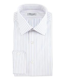Charvet - Striped Barrel-Cuff Dress Shirt, Blue/White