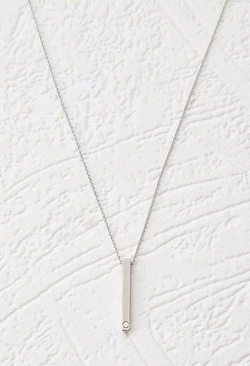 Forever 21 - Rhinestoned Bar Pendant Necklace