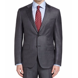 Canali - Sharkskin Wool Two-Piece Suit