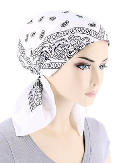 Chemo Essentials - Pre Tied Cotton Paisley Bandana