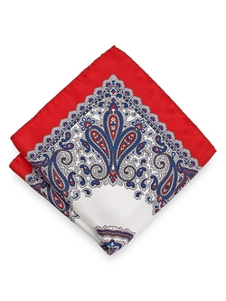 Paul Fredrick - Border Printed Pocket Square