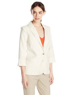 Sag Harbor - Patch Pocket Linen Look Jacket