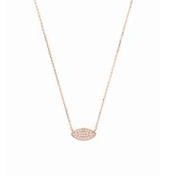 Wanderlust + Co - Evil Eye Pave Necklace