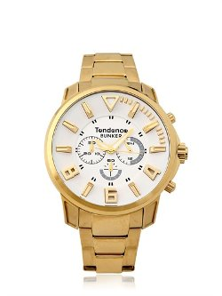 Tendence  - Bunker Yellow Gold Watch