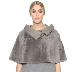 Marina Rinaldi - Cropped Shearling Cape