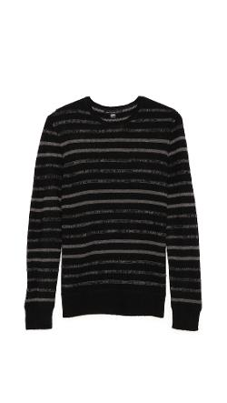 John Varvatos Star USA  - Striped Crew Neck Sweater