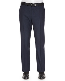 Incotex - Benson Wool Trousers, Navy Sharkskin