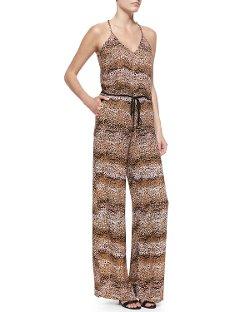 Karina Grimaldi  - Ginger Soft-Jersey Halter-Neck Jumpsuit
