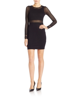 French Connection - Mesh-Accented Sheath Dress