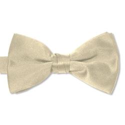 Uniformtux - Champagne Satin Bow Tie