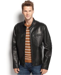 Marc New York - Lamar Leather Moto Jacket