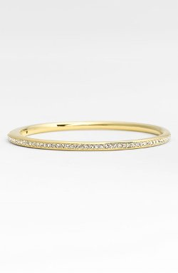 Nadri - Channel Set Crystal Hinged Bangle