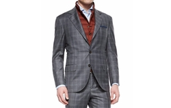 Brunello Cucinelli  - Plaid Two-Piece Wool Suit