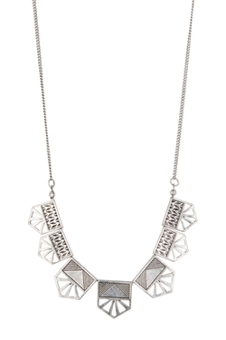 Free Press - Geometric Bib Necklace