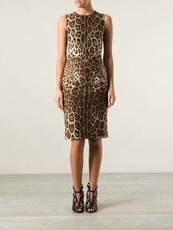 Dolce & Gabbana  - Leopard Print Fitted Dress
