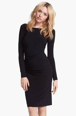 Kamalikulture - Shirred Long Sleeve Dress