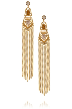 Ben-Amun - Gold-Plated Cabochon Earrings