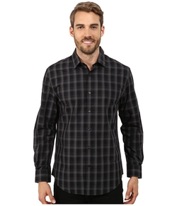 Perry Ellis  - Long Sleeve Plaid Pattern Shirt