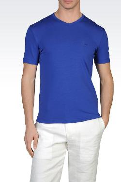 Armani - COTTON JERSEY V-NECK T-SHIRT