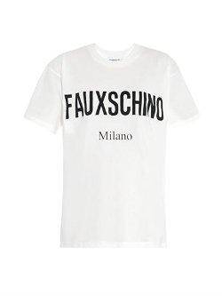 Moschino  - Slogan Print T-Shirt