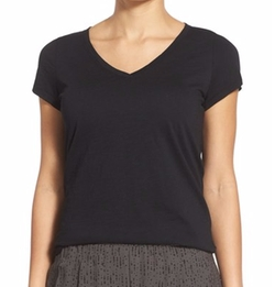 Eileen Fisher - Organic Cotton V-Neck Tee Shirt