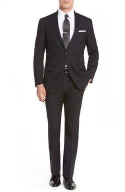 Hart Schaffner Marx - New York Solid Wool Suit