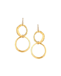 Devon Leigh - Double-Drop Hoop Earrings