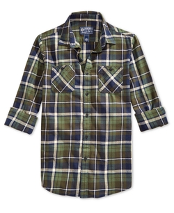 American Rag  - Plaid Flannel Long-Sleeve Shirt