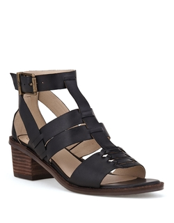 Elliott Lucca - Lena Leather Block Heel Sandals
