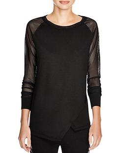 Elie Tahari Sport - Avril Mesh Sleeve Shirt