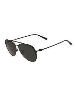 Salvatore Ferragamo  - Titanium Aviator Sunglasses