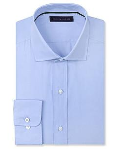 Tommy Hilfiger  - Solid Poplin Dress Shirt