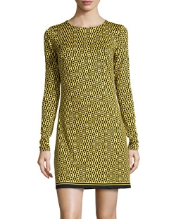 Jb by Julie Brown - Chain-Link-Print Scoop-Neck Dress