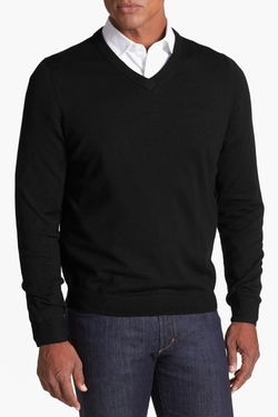 Nordstrom  - Merino Wool V-Neck Sweater