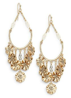 Saks Fifth Avenue  - Floral Swing Chandelier Earrings