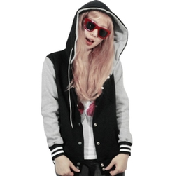 U World - Cotton Hoodie Baseball Varsity Jacket