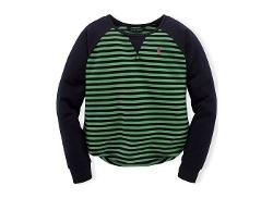 Ralph Lauren - Terry Striped Raglan Top