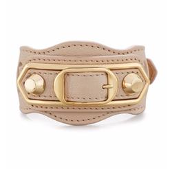 Balenciaga - Metallic Edge Leather Belt-Style Bracelet