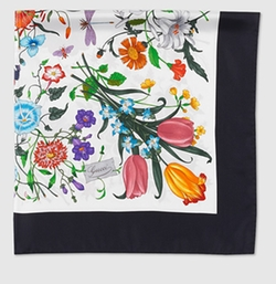 Gucci - Flora Silk Printed Foulard