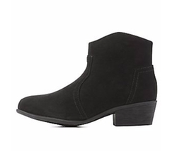 Charlotte Russe - Bamboo Western Ankle Booties