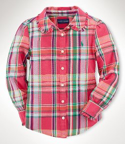 Ralph Lauren  - Childrenswear Plaid Twill Shirt