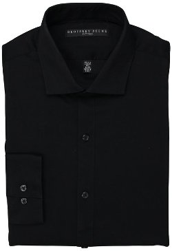 Geoffrey Beene - Fitted Twill Solid Dress Shirt