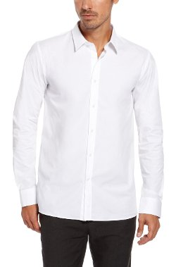 Hugo - Point Collar Stretch Cotton Dress Shirt