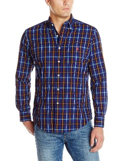 U.S. Polo Assn. - Button Down Long Sleeve Plaid Sport Shirt